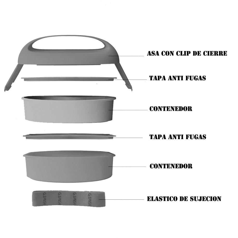 Bllbx02 despiezado porta alimentos despiezado comprar for Menaje cocina online