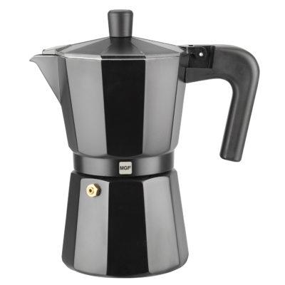 Cafetera MAGEFESA KENIA NOIR en aluminio esmaltado negro.