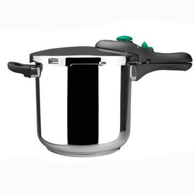 MAGEFESA Dynamic Olla a presión Super rápida de fácil Uso, Acero Inoxidable 18/10, Apta para Todo Tipo de cocinas, Incluido inducción.