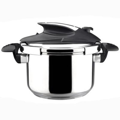 MAGEFESA Nova Olla a presión Super rápida de fácil Uso, Acero Inoxidable 18/10, Apta para Todo Tipo de cocinas, Incluido inducción.