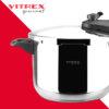 Olla a presión VITREX PRESS. Olla express Super rápida de Fácil uso, Acero Inoxidable 18/10, Apta para todo tipo de cocinas, inducción y lavavajillas. Fondo Termodifusor, (3L + 6L)
