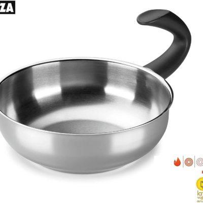 Wok ALZA. Wok Fabricado en Acero Inoxidable 18/10, Apta para Todo Tipo de Cocina, INDUCCIÓN. Fácil Limpieza. Apto para lavavajillas. Diseño novedoso mango G Zero