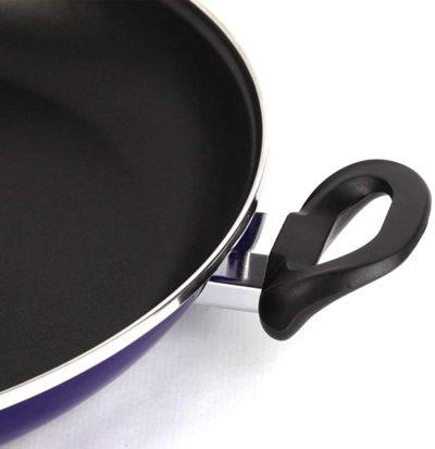 PAELLERA VITREX MARSEILLE. Paellera antiadherente doble capa, acero vitrificado, compatible con todo tipo de fuego, incluido inducción. Apta para lavavajillas. Mango ergonómico (PAELLERA AZUL, 34_cm)
