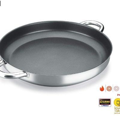 PAELLERA ALZA CLASSIC MASTER. PAELLERA fabricada en acero inoxidable 18/10, antiadherente triple capa, apta para todo tipo de cocina, INDUCCIÓN. Fácil Limpieza. Apto para lavavajillas.