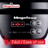 MAGEFESA Olla a presión eléctrica Easy Express, Acero Inoxidable, 500 W, Incluye Libro de cocinas con 50 Recetas, Recipiente extraíble Anti adherente, Apto para lavavajilla