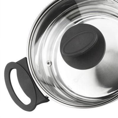 Batería de Cocina MAGEFESA Style 4 Piezas + Olla presión Dynamic 5L Fabricada en Acero Inoxidable.