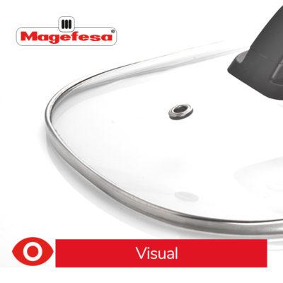 MAGEFESA Olla eléctrica de cocción Tradicional GUISOTHERM 6L 1250 W, Incluye Libro de Cocina con Recetas, Recipiente extraíble Anti adherente, Apto para lavavajillas, Tapa de Vidrio