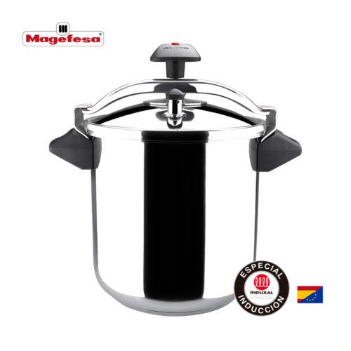 MAGEFESA INOXTAR Olla a presión rápida, Acero Inoxidable 18/10, Apta para Todo Tipo de cocinas, Incluido inducción