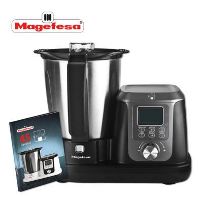 MAGEFESA Robot de Cocina multifunción MAGCHEF 3,3L 1200W, Incluye Libro de Recetas, Jarra de Acero Inoxidable, Sistema de máxima Seguridad, Temperatura Regulable de 30º a 120º