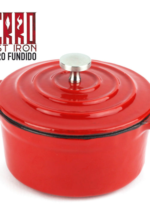 Olla de Hierro Fundido Ferro by Sergi AROLA, óptima retención y Reparto del Calor, Especial para INDUCCIÓN, Apto para Horno, Ahorro de energía, fácil Limpieza