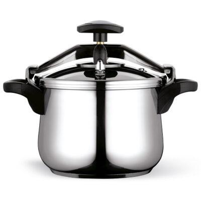 Olla a presión Fagor Clasica rápida, Acero Inoxidable 18/10, Apta para Todo Tipo de cocinas, INDUCCION Total. Fondo termodifusor IMPAKSTEEL.