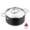 Cacerola MAGEFESA Prisma – Cacerola Fabricado en Acero Inoxidable 18/10, Compatible con Todo Tipo de Cocina, INDUCCIÓN. Fácil Limpieza. Apto para lavavajillas y Horno