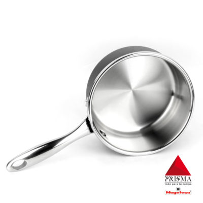 CAZO MAGEFESA Prisma – CAZO Fabricado en Acero Inoxidable 18/10, Compatible con Todo Tipo de Cocina, INDUCCIÓN. Fácil Limpieza. Apto para lavavajillas y Horno.