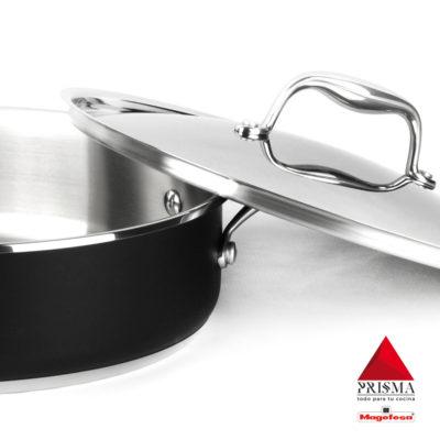 TARTERA MAGEFESA Prisma – TARTERA Fabricada en Acero Inoxidable 18/10, Compatible con Todo Tipo de Cocina, INDUCCIÓN. Fácil Limpieza. Apto para lavavajillas y Horno.