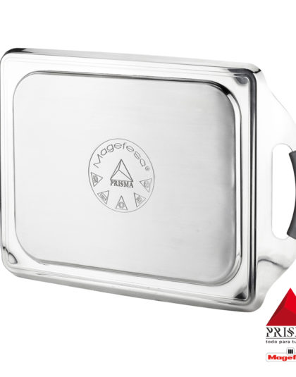 Plancha Teppanyaki MAGEFESA Prisma. Teppanyaki Fabricado en Acero Inoxidable, Antiadherente Triple Capa, Apta para Todo Tipo de Cocina, INDUCCIÓN. Apto para lavavajillas y Horno.