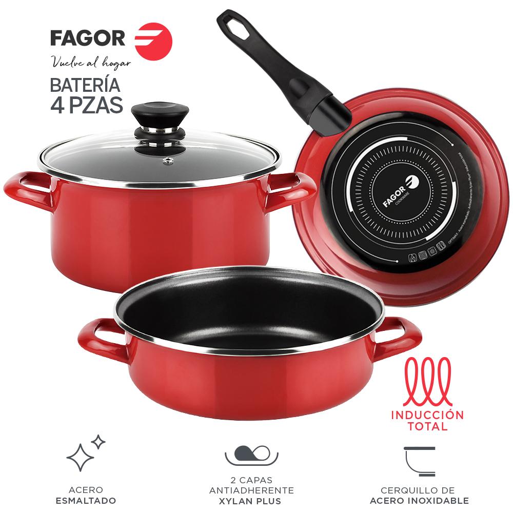 Batería de cocina FAGOR OPTIMAX 4 piezas antiadherente doble capa