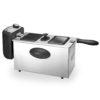 Magefesa Milos 3, Freidora de Aceite Diseño Compacto de acero y aluminio,cestillo apto lavavajillas, 3L con 2000W de potencia, Panel de Control con Analógico Giratorio para regular entre 130º y 190º