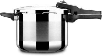 Olla a presión ALZA TITAN PLUS. Pack Exclusivo, Olla express acero Inoxidable, apta para tipo de cocinas INDUCCIÓN. Fondo Termodifusor