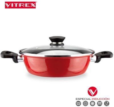 BATERIA VITREX MARSEILLE. BATERIA antiadherente doble capa, acero vitrificado, compatible con todo tipo de fuego, incluido inducción. Apta para lavavajillas. (BATERIA, 8 PIEZAS)
