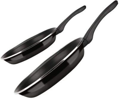 SARTEN FAGOR OPTIMAX. Sartén antiadherente doble capa, acero esmaltado de 1,5mm de espesor, compatible con todo tipo cocina, inducción, cerquillo de acero inoxidable. Apta lavavajillas (SARTEN, 18+26)