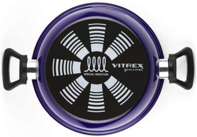BATERIA VITREX MARSEILLE. BATERIA antiadherente doble capa, acero vitrificado, compatible con todo tipo de fuego, incluido inducción. Apta para lavavajillas (BATERIA AZUL, 8 PIEZAS)