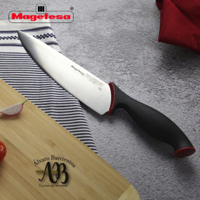 Cuchillos de cocina MAGEFESA ALVARO BARRIENTOS, Set 2 cuchillos PELADOR, CHEF, Acero inoxidable de alta calidad, con mangos antideslizantes de fácil manejo.