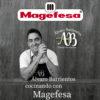 Cuchillos de cocina MAGEFESA ALVARO BARRIENTOS, Set 5 cuchillos PELADOR, CARNE, SANTOKU, TRINCHADOR, CHEF, Acero inoxidable de alta calidad, con mangos antideslizantes de fácil manejo.