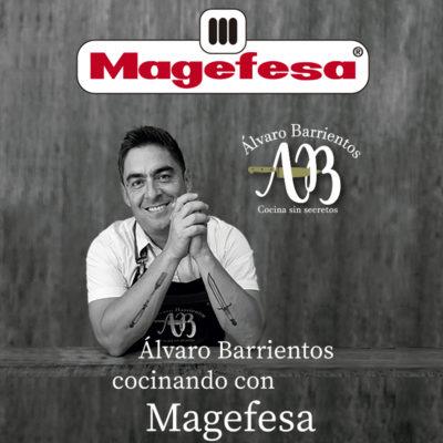 Cuchillos de cocina MAGEFESA ALVARO BARRIENTOS, Set 2 cuchillos CARNE, SANTOKU, Acero inoxidable de alta calidad, con mangos antideslizantes de fácil manejo.