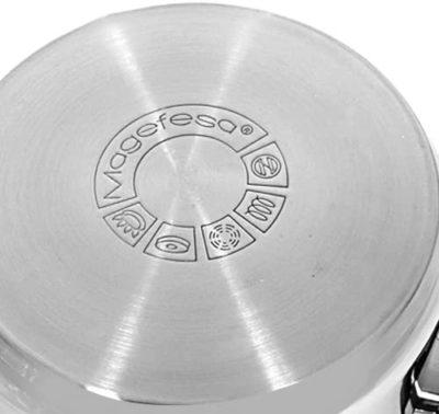 MAGEFESA Dux – La Familia de Productos MAGEFESA Dux está Fabricada en Acero Inoxidable 18/10, Compatible con Todo Tipo de Fuego. Fácil Limpieza y Apta lavavajillas. (CAZO