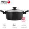 Olla Fagor Vivant con Antiadherente Doble Capa, Aluminio Forjado de 3 mm Espesor, Compatible con Toda tipo de Cocina, inducción, Fondo difusor de Acero Inoxidable. Apta lavavajillas