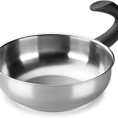 Wok ALZA. Wok Fabricado en Acero Inoxidable 18/10, Apta para Todo Tipo de Cocina, INDUCCIÓN. Fácil Limpieza. Apto para lavavajillas.